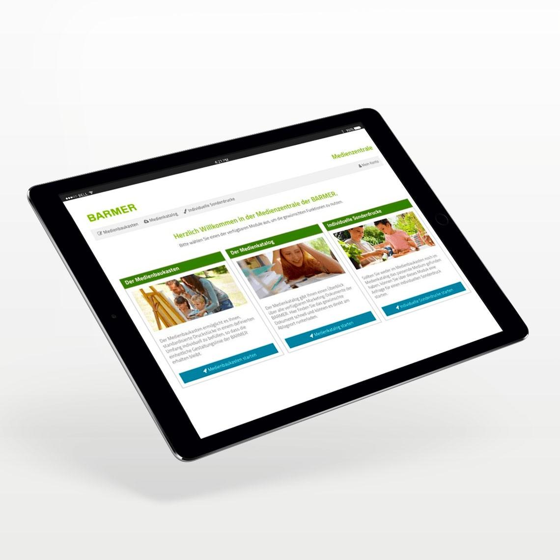 Visual der BARMER Medien- und Kampagnenwelt Visual auf der Website der CAY SOLUTIONS GmbH