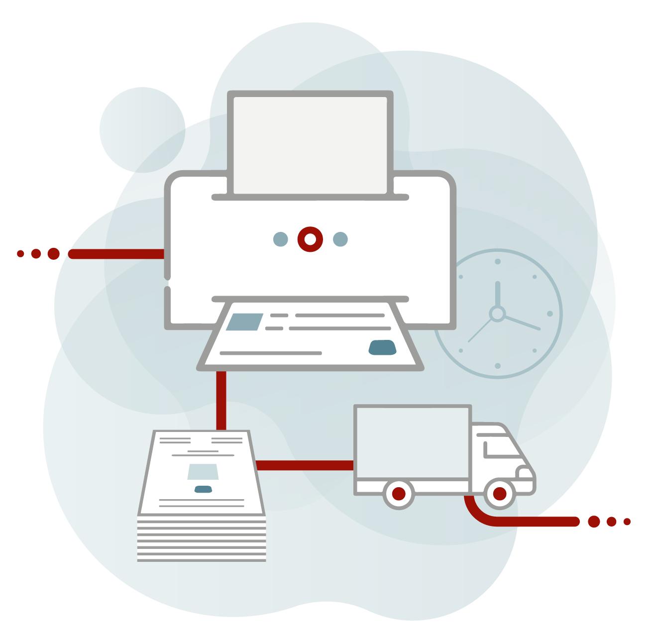 Illustration der CAY SOLUTIONS GmbH zu Web-to-Print.