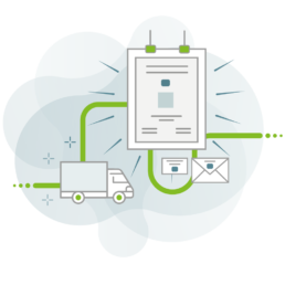 Darstellung des Workflows von CAY PUBLISH für Versicherungen