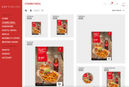 Combo Meal Selection in CAY PUBLISH
